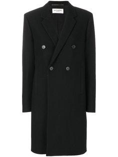 двубортное пальто Saint Laurent