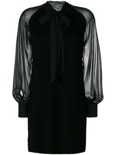 платье-шифт с воротником-стойкой с бантом спереди Twin-Set