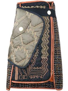 асимметричная стеганая юбка  Peter Pilotto