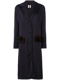 пальто с меховой отделкой  Santoni