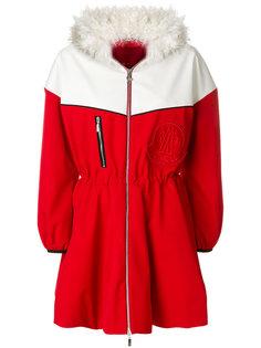 куртка-пуховик с воротником под овчину Moncler Gamme Rouge