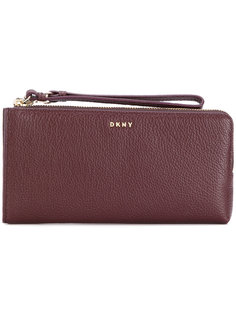 кошелек на молнии с ремешком на запястье DKNY