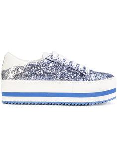 кроссовки с блестками на платформе Marc Jacobs