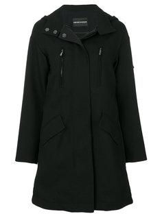 пальто со складками сзади  Emporio Armani