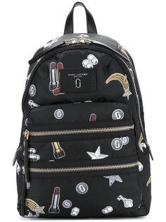 байкерский рюкзак с принтом Tossed Charms Marc Jacobs
