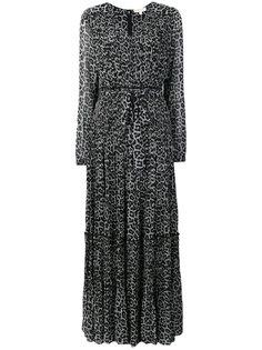 многоуровневое платье с леопардовым принтом Michael Michael Kors