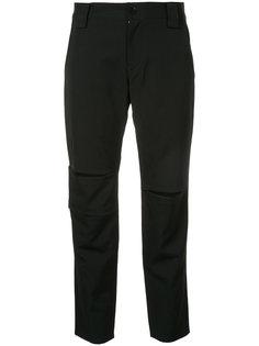 укороченные брюки  с шлицами Yohji Yamamoto