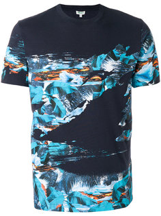 футболка с тропическим принтом Kenzo