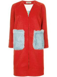 классическое пальто с контрастными карманами Han Ahn Soon