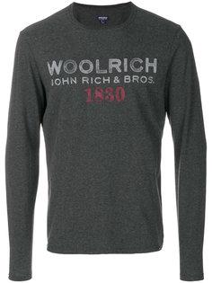 кофта с принтом логотипа Woolrich