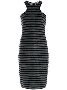 платье в полоску со спинкой-рейсер T By Alexander Wang