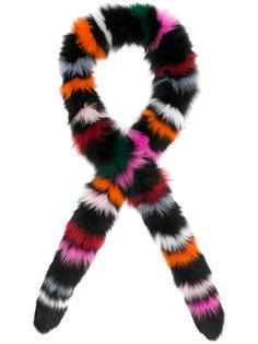 шарф в полоску из лисьего меха Charlotte Simone