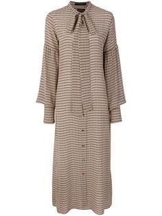 платье-рубашка с узором в ломаную клетку Rokh
