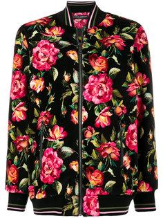 куртка бомбер с цветочным принтом Dolce & Gabbana