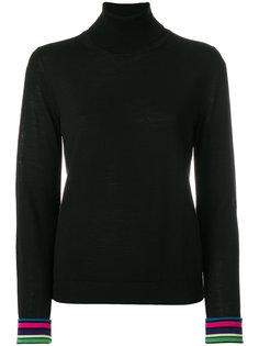 свитер с отворотом и манжетами в полоску  Ps By Paul Smith