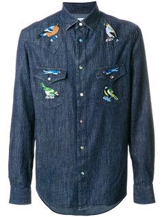 рубашка с вышивкой птиц Paul Smith