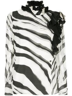 блузка с рисунком под зебру Lanvin