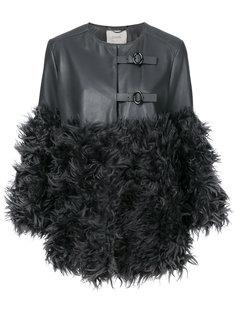 пальто с меховой вставкой  Dorothee Schumacher