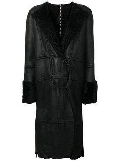пальто с меховой подкладкой Alexander McQueen