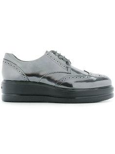 туфли дерби на платформе Hogan