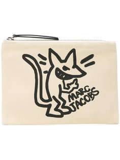 клатч с принтом крысы Marc Jacobs