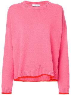 свитер с круглым вырезом и контрастной отделкой  Giada Benincasa