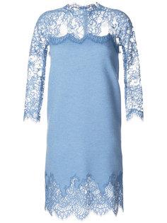 платье с кружевной вставкой  Ermanno Scervino