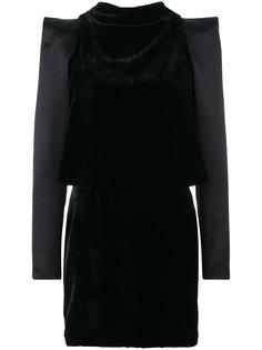 платье со структурированными плечами и вырезами Tom Ford