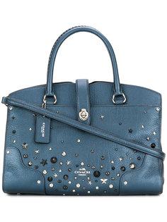 сумка на плечо с заклепками Coach