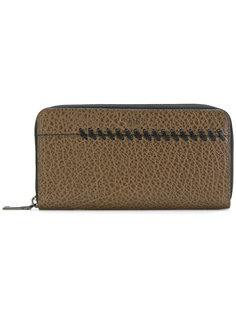 бумажник с круговой застежкой-молнией и простроченной отделкой Coach