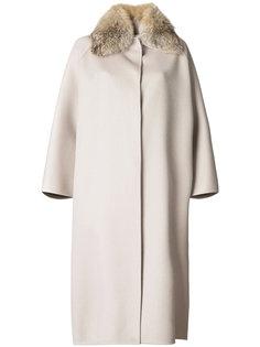 пальто с меховым воротником Ava Adore