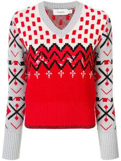 свитер с узором и отделкой  Coach