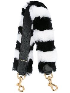 меховая укороченная лямка для сумки в полоску Dolce & Gabbana