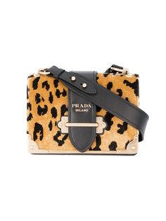 сумка с леопардовым принтом Prada