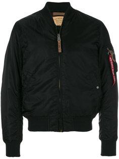 куртка-бомбер  на молнии Alpha Industries