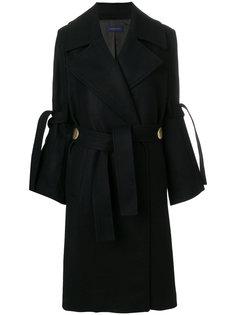 длинное пальто-тренч  Eudon Choi