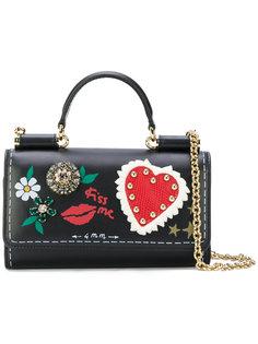 декорированная мини сумка Von Dolce & Gabbana