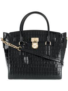 сумка-тоут с эффектом крокодиловой кожи Michael Kors