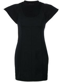 приталенное платье с рукавами-кап Alexander Wang
