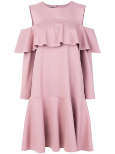 расклешенное платье с баской  Alberta Ferretti