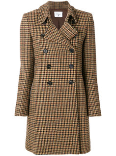 пальто в ломаную клетку Dondup