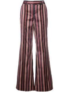 полосатые расклешенные брюки  Zimmermann