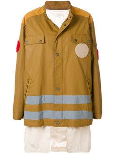 многослойное пальто с покрытием  Maison Margiela
