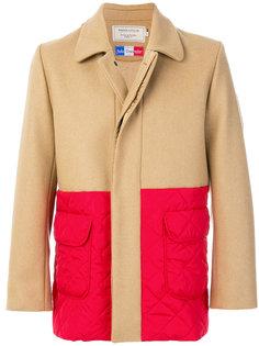 пальто дизайна колор-блок Maison Kitsuné