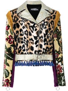 байкерская куртка с кисточками Jeremy Scott