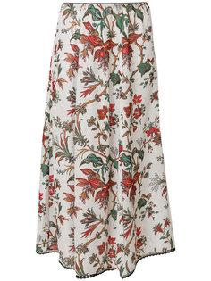 юбка с цветочным принтом McQ Alexander McQueen