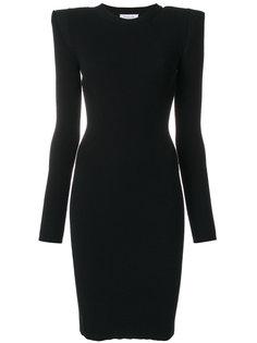 приталенное ребристое платье Mugler