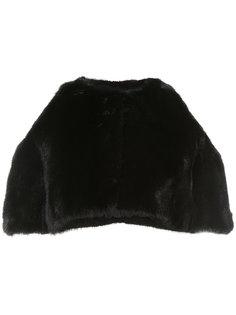 укороченная норковая куртка Oscar de la Renta