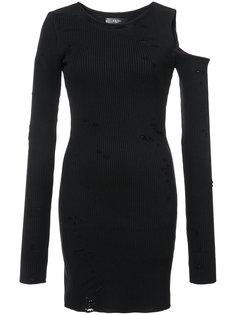 платье-свитер с вырезными деталями Amiri