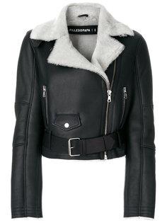 укороченная куртка с отделкой из овчины  Filles A Papa
